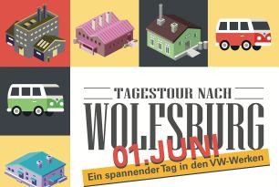 Fahrt zum Volkswagenwerk Wolfsburg