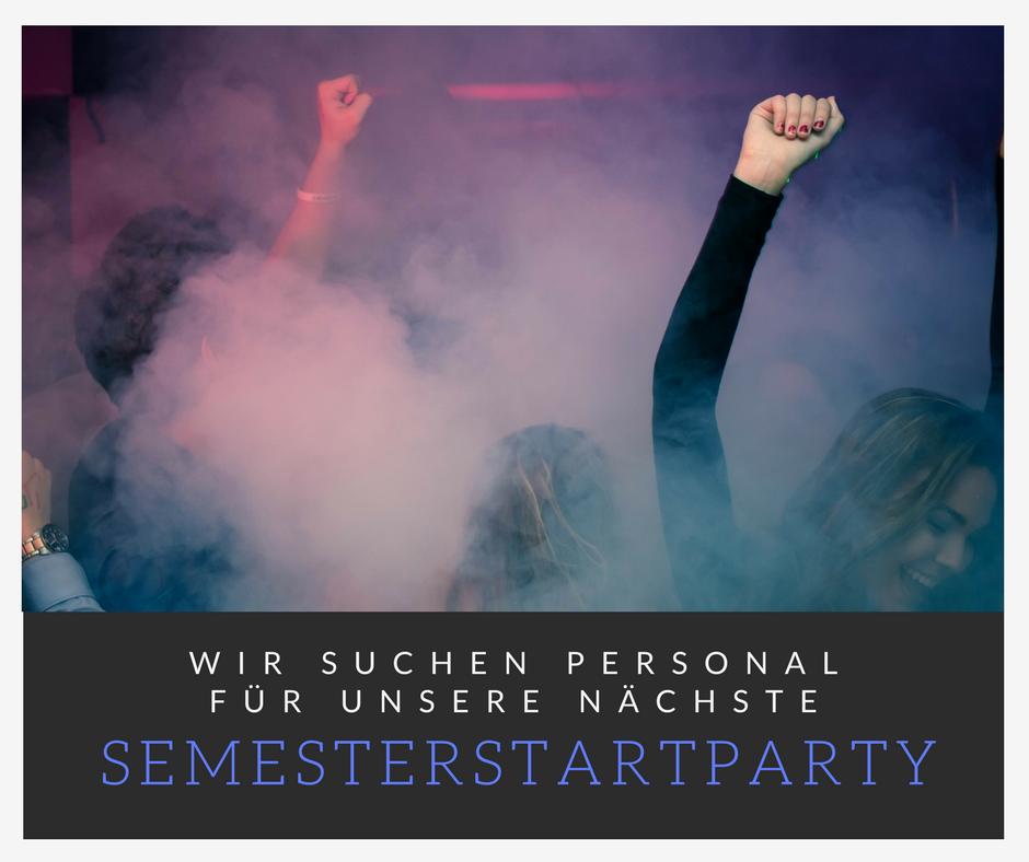 Personalsuche Semesterstartparty