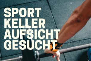 Sportkeller-Aufsicht gesucht!